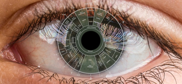 teenager eye macro